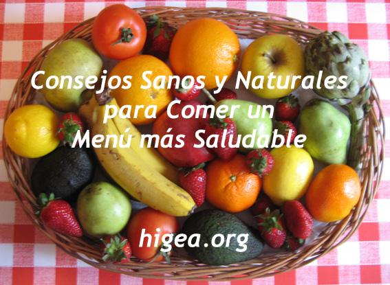 165 Kbytes, Fichero Audio Consejos Sanos y Naturales para comer un Menú más Saludable